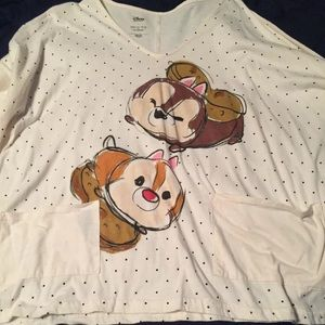 Disney Chip & Dale Tsum Tsum Three Quarter Top L